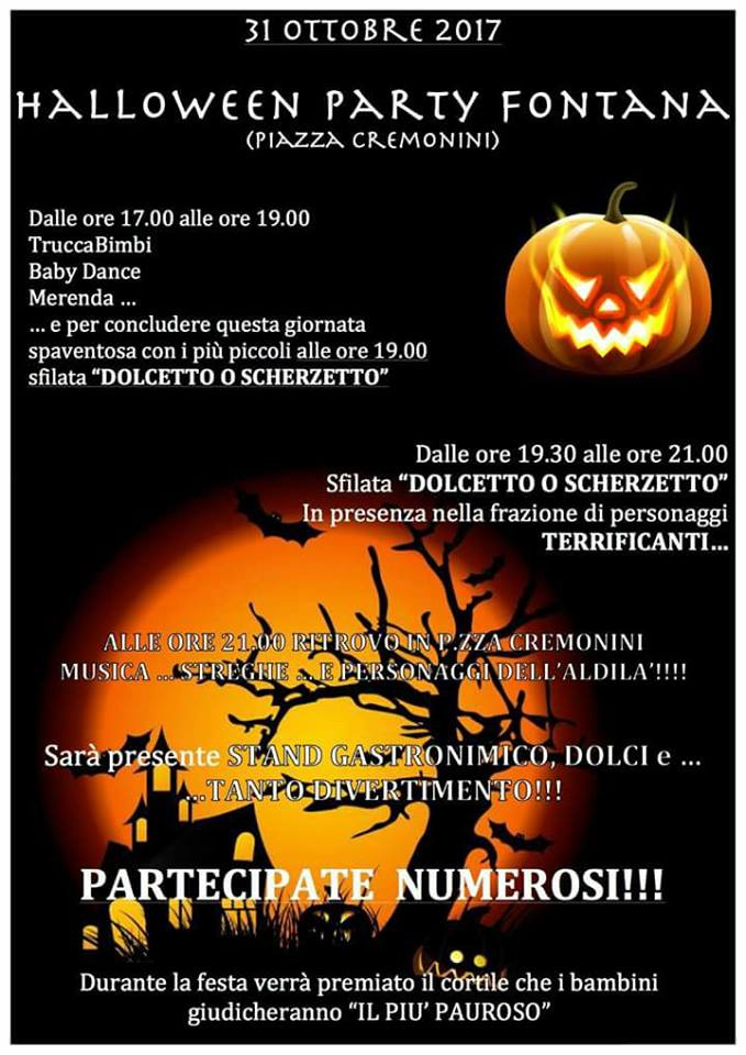 HALLOWEEN PARTY A FONTANA