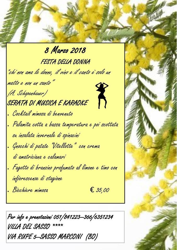 Festa della Donna alla Villa del Sasso