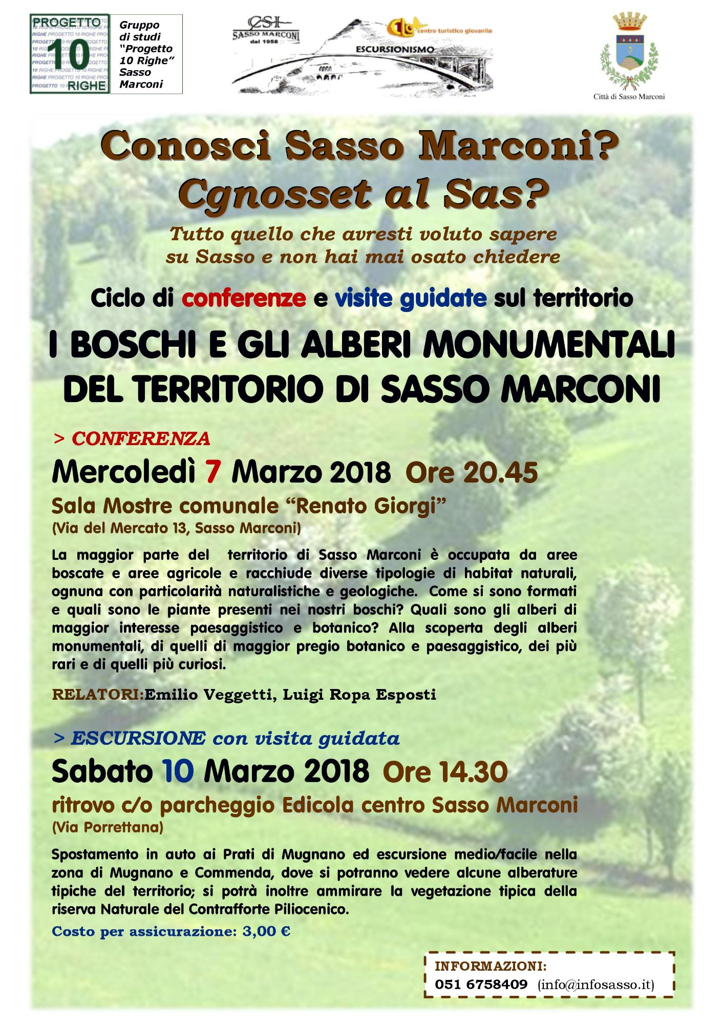 Conferenza - I boschi e gli alberi monumentali del territorio di Sasso Marconi