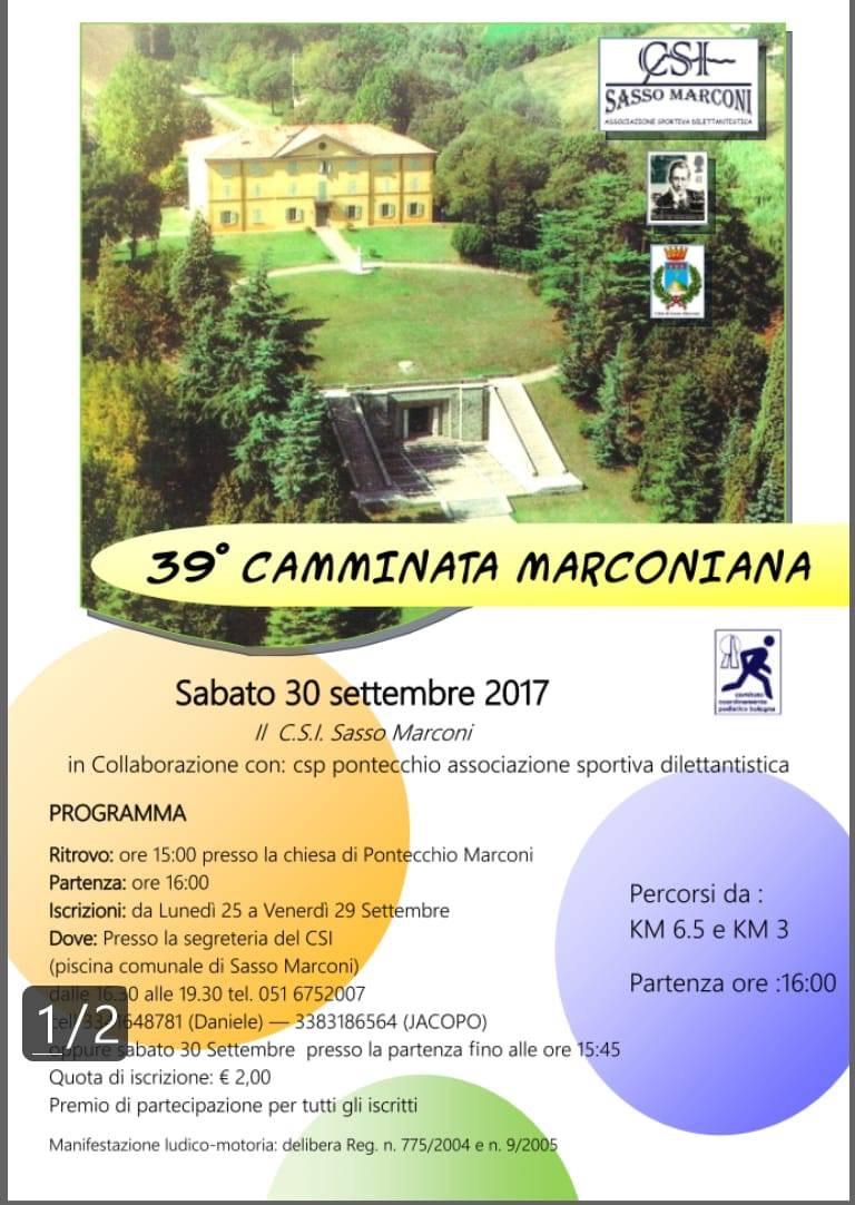 39° CAMMINATA MARCONIANA