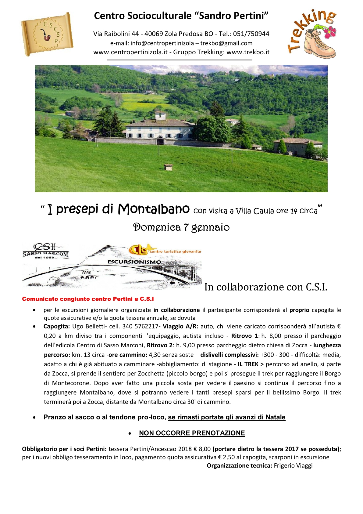 """Escursione-"""" I presepi di Montalbano"""