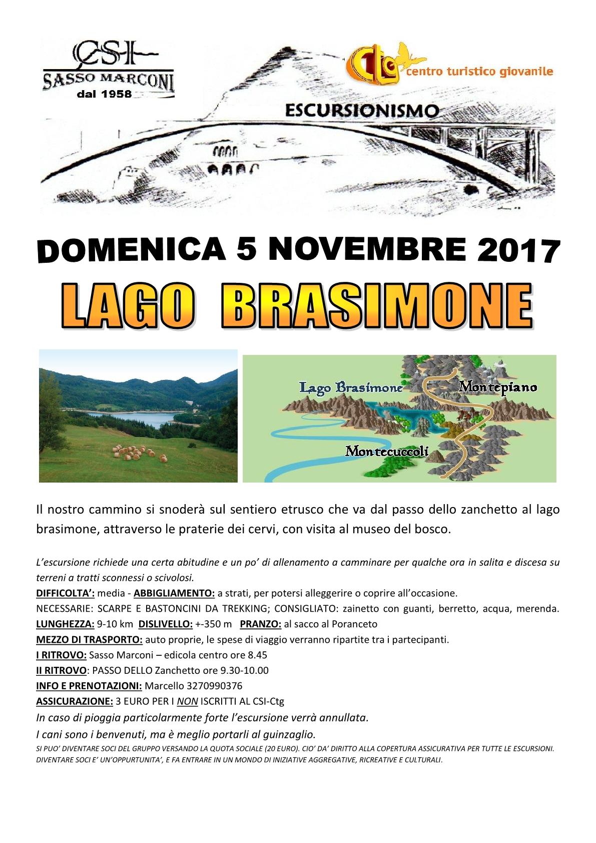 Escursione- Lago Brasimone