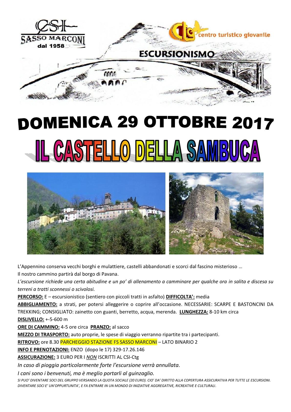 Escursione- IL CASTELLO DELLA SAMBUCA